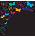 neon butterfly vector image