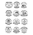 building and construction work tools icons vector image