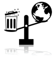 Garbage and Earth scale vector image vector image