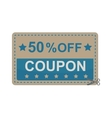 Gift Coupon certificate template vector image