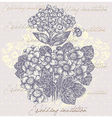 Floral Background Invitation vector image vector image