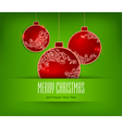 christmas ornament green background 10 SS v vector image