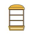 empty bookshelf icon imag vector image
