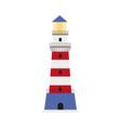 flat lighthouse icon symbol decoration element vector image