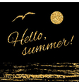 Hello summer Typography background waves vector image