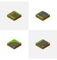 isometric way set of rightward down bitumen and vector image