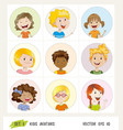 set of kids avatar icons vector image