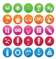 spring break icon set gradient style vector image vector image