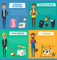 engineer farmer photographer and designer vector image vector image
