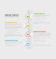 simple paper timeline vector image