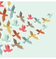 Sky background with stylized color flying birds vector image vector image