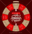 Christmas Calendar 2015 vector image vector image
