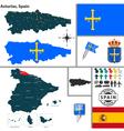 Map of Asturias vector image
