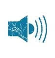 Loudspeaker grunge icon vector image