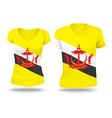 Flag shirt design of Brunei vector image