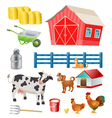 farm objects vector image
