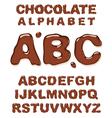 chocolate alphabet vector image vector image