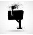 Mailbox grunge icon vector image