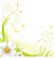Floral summer background with white wild rose vector image
