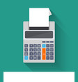 Adding counting machine flat vector image