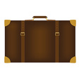 Brown travel bag vector image
