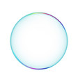 bubble transparent isolated soapbubble in white vector image