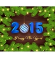 Christmas a background with decoration vector image