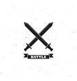 crossing swords sign vector image