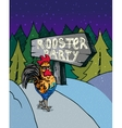 Greeting Card with of roosters on vector image