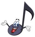 Music note cartoon vector image