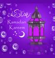 ramadan kareem greeting card with lanterns vector image