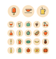 Thin line icons for food and drinks vector image