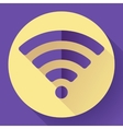WIFI free internet connection Icon Flat design vector image