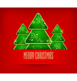 christmas ornament red background 10 SS v vector image vector image