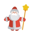 Santa Claus with Stick Isolated Father Frost vector image vector image