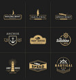 yachting and sailing vintage logo template vector image