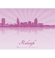 Raleigh skyline in purple radiant orchid vector image vector image