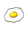 Flat design of doodle scrambled egg vector image