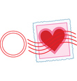 Love letter stamp vector image