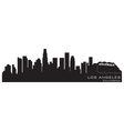 Los angeles california skyline detailed silhouette vector image