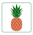 Pineapple with leaf icon Tropical vector image vector image