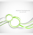 Abstract background wiht two circles vector image