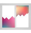 Abstract geometric template vector image