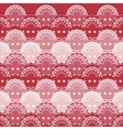 Abstract textile seamless pattern of lace ribbons vector image