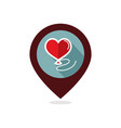 balloon in the form of heart pin map icon vector image