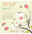 calendar for 2012 april vector image