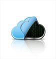 Cloud computing icon with binary code vector image