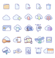 icons for cloud service vector image