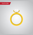 isolated ring flat icon engagement element vector image