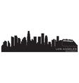 Los angeles california skyline detailed silhouette vector image